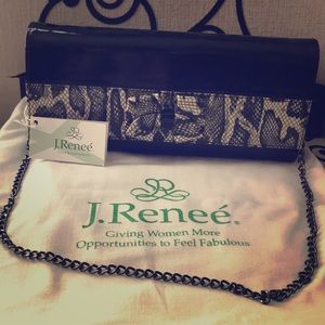 "J. Renee ""Brand New"" snakeskin clutch"